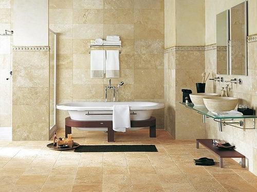 Керамическая плитка в ванной комнате