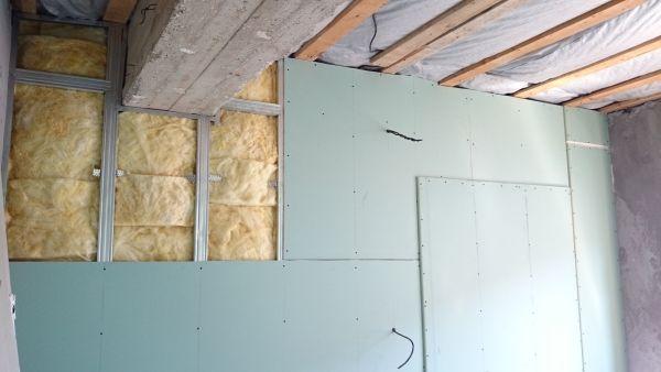 Установка гкл на стену с профилем