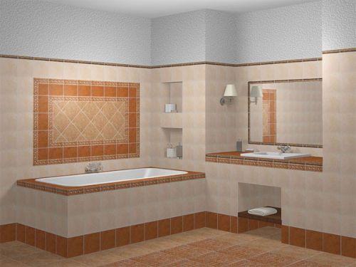 Облицовка ванной плиткой (стен и пола)